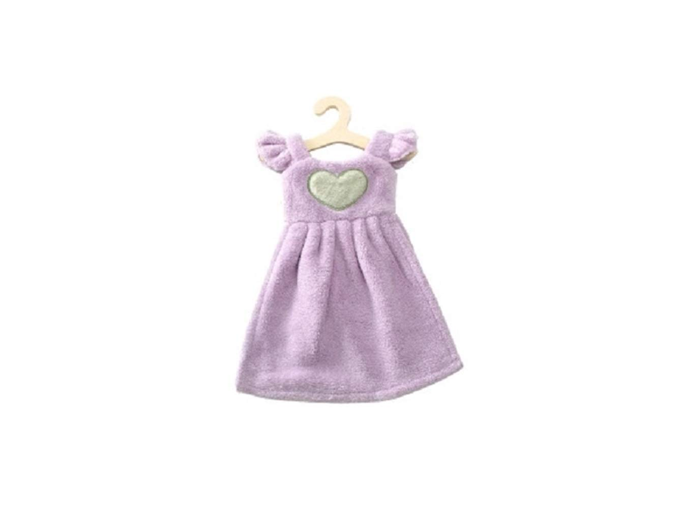 Kuiduo Household Princess Dress Hand Towel Cute Bathroom Towel with Hanging Cloth Exquisite (Color : Pink, Size : 36x25cm)