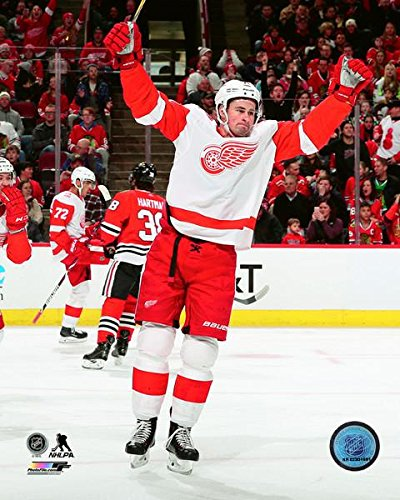 506bdd273a0 Amazon.com  Dylan Larkin Detroit Red Wings NHL Action Photo (Size  8
