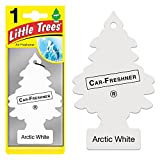 Magic Tree Little Trees Car Home Air Freshener Freshner Smell Fragrance Aroma Scent - ARCTIC WHITE (120 Pack)