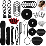 DELOVE- Hair Styling Set, Fashion Hair Design Styling Tools Accessories DIY Hair Accessories Hair Modelling Tool Kit Hairdress Kit Set Magic Simple Fast Spiral Hair Braid Hair