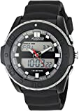 Armitron Adventure Men's AD/1009BLK Analog-Digital Chronograph Multi-Function Black Silicone Strap Sport Watch