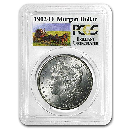 1902-o-stage-coach-silver-dollar-bu-pcgs-1-brilliant-uncirculated-pcgs
