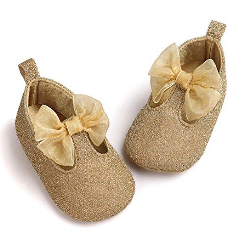 MuSheng Weiche Sohle Krabbelschuhe Babyschuhe Kleinkind Hausschuhe Karikatur für Baby Golden