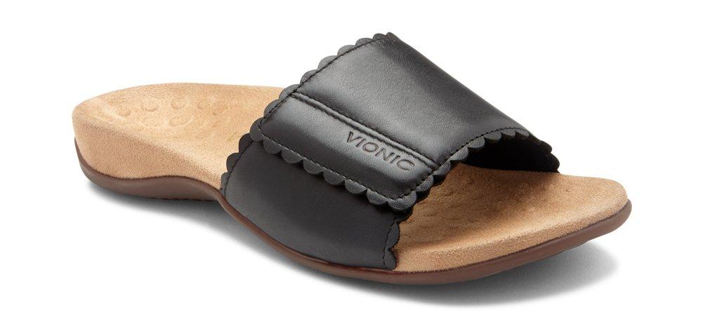 Vionic Women's Florence Slide Sandal Black 7 M