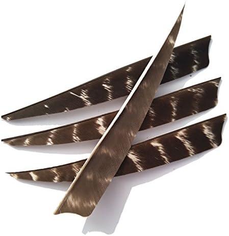 SHARROW 50 Piezas Tiro con Arco Plumas de Flecha 5 Pulgadas Pluma Naturales Fletching Fletches Plumas para Flechas