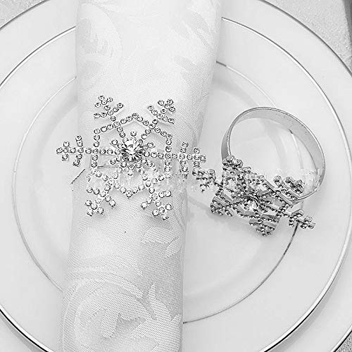 Beautiful snowflake napkin ring set