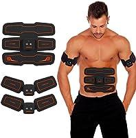 Elettrostimolatore Muscolare, Hurrise Ems Suscolo Addominale, Addominali Attrezzi Abs, Addome/braccio/Gambe/Waist/Glutei Massaggi-attrezzi, USB Ricaricabile, 15 livelli di intensità (uomo/donna)