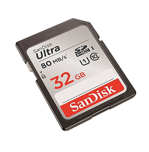SanDisk 32GB Ultra Class 10 SDHC UHS-I Memory Card Up to 80MB, Grey/Black (SDSDUNC-032G-GN6IN) [Easy Packaging]