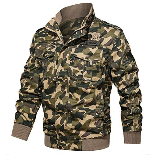 Veste Tactique Hommes Coton Camouflage Militaire Bomber Pilot Vestes Manteaux Vestes Cargo Travail 2