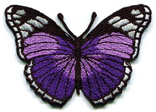 Butterfly insect hippie embroidered applique