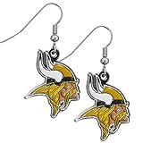 NFL Minnesota Vikings Women's Chrome Dangle Earrings