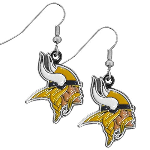 Siskiyou NFL Minnesota Vikings Women's Chrome Dangle Earrings
