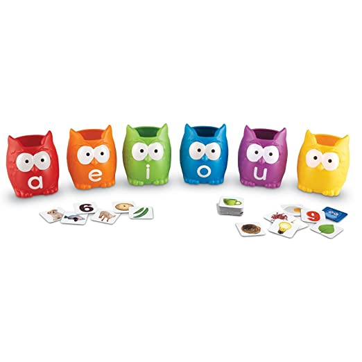 Amazon.com : Learning Resources Vowel Owls Sorting Set : Office ...