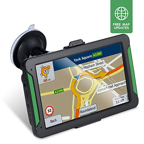 Car GPS Navigator, 7-inch 8GB HD Touch Screen GPS Navigation System, Voice Transition Direction, Postal Code Search, pre-Installed Latest map and Lifetime Free Update