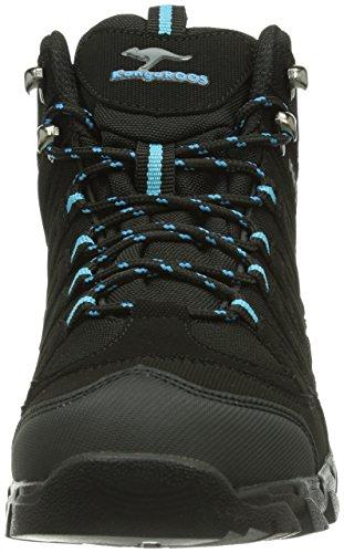 KangaROOS K-Trekking 3007W - Botas de material sintético para mujer negro - Schwarz (blk/blk/scubablue 554)