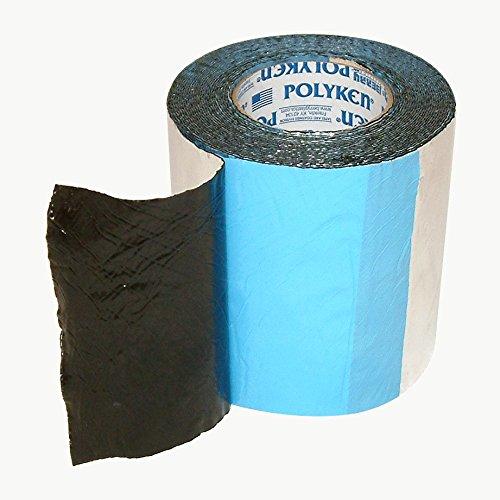 Polyken 360-45 Heavy Duty Foil/Butyl Rubber Tape, 45 mil Thick, 30' Length x 6'' Width, Aluminum by Nashua