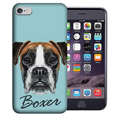 MUNDAZE for Apple iPhone 6 / 6S Custom UV Printed Design Case - Boxer Dog Design Realistic Art Cover