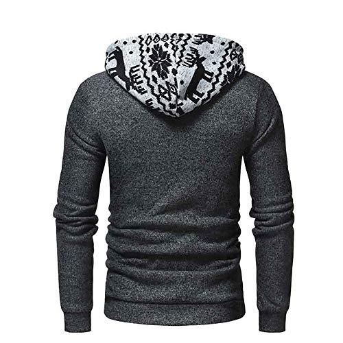 Subfamily Fit Slim Homme Capuche Sweat Hiver Pullover Manteau Longues A Hoodie Sweatshirt Gris À Manches zr815zqw