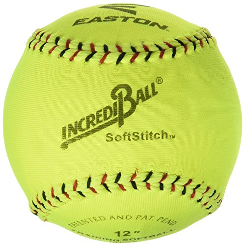 Ragballs Easton 12 in Soft stitch Incrediball, Neon Yellow - 003793 (Indoor Softball)
