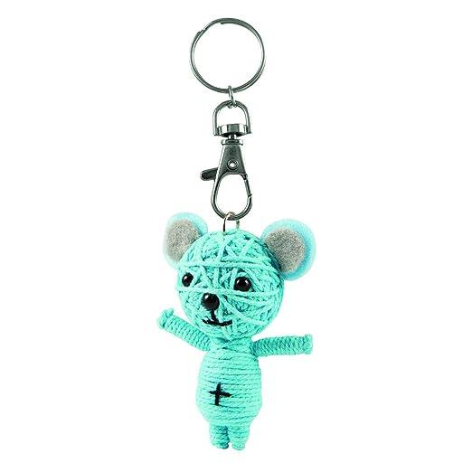 Llavero con muñeco de cuerda con diseño de oso azul feliz ...