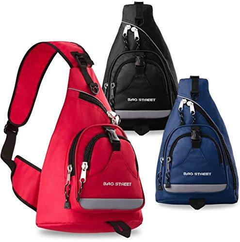 sportlicher Rucksack Einarmrucksack Bag Street Sporttasche Freizeittasche Blau