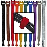 "1/2"" x 6"" Rip-Tie Lite 10 Pack Rainbow"