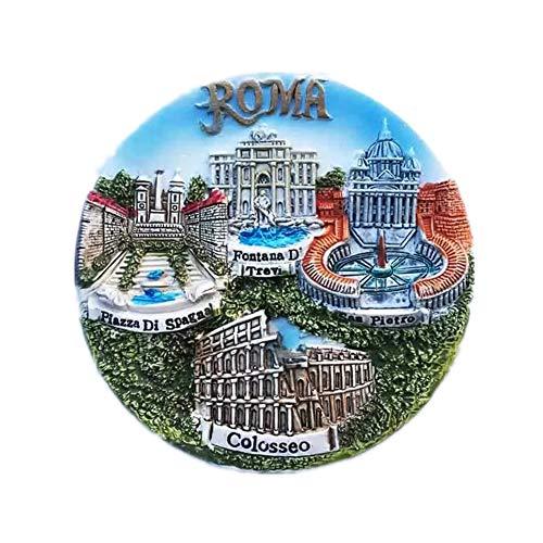 - Vatican Trevi Fountain Colosseum Rome Italy Fridge Magnet Resin 3d City Trip Travel Souvenir Colleciton Sticker
