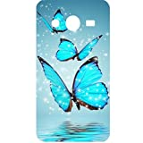 Casotec Flying Butterflies Design Hard Back Case Cover for Samsung Galaxy Core 2 G355H