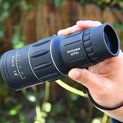 16x52 Dual Focus Monocular Telescope/Monocular Scope Waterproof High powered for Hunting, Camping, Surveillance,Wildlife Birdwatching gift for boys by Unknown
