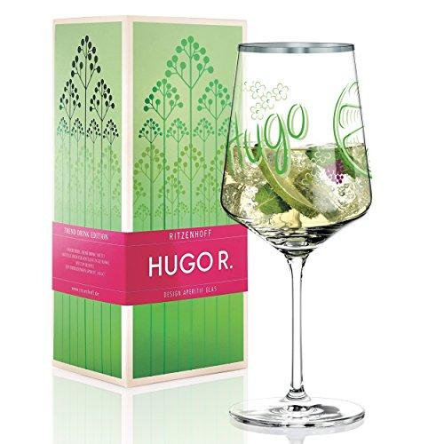 Ritzenhoff Hugo Horst R. Hugo Glass, Aperitif Glass, Crystal Glass, 600ml, Includes Beautiful Platinum Throw