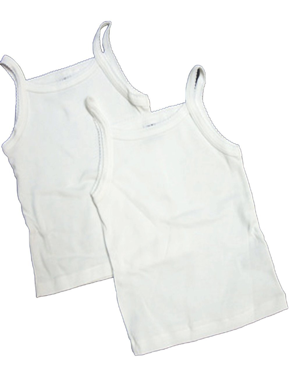 2//18 12, White Petit Bateau 2pc Solid White Undershirts-sizes