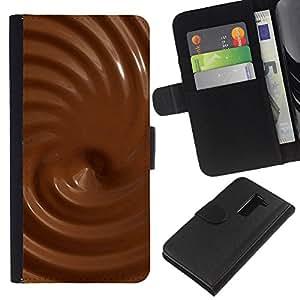 Ihec-Tech / Flip PU Cuero Cover Case para LG G2 D800 D802 D802TA D803 VS980 LS980 - Chocolate Textures