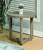 Major-Q 22'' Height Modern Contemporary Style Round Sharp Top Chairside End Table, Id80151129et