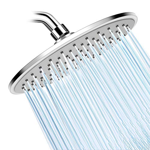 Shower Head- High Pressure Rainfall Shower Heads- WarmSpray 9'' Luxury Thin Top ABS Rain Shower Head- For the Amazing Rainfall Spray Shower Relaxation ()