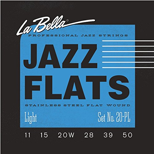 La Bella 20PL Jazz Flats Stainless Steel Flatwound Electric Guitar Strings - ()