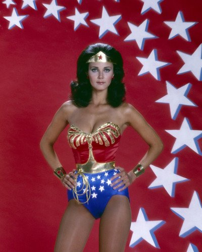 Wonder Woman Lynda Carter busty pose in costume