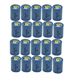 3.7V Lithium Li-ion ICR16340 16340 Rechargeable Battery Replace to CR123A 123A CR17345 DL123A (20pcs)