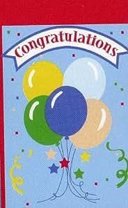 Congratulations Balloons Applique House Flag, 28-inch X 44-inch