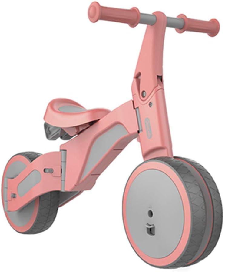 Zuqiudashi Bebé Montando Juguetes niños Equilibrio niños Coche equitación Juguete Triciclo Paseo y Modo Deslizante Xiaomi al Aire Libre Rompecabezas Juguetes,Pink