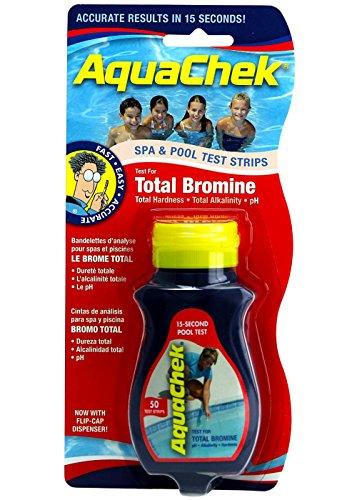 AquaChek 521253A Red Bromine Test Strips 521253A - 50 Strips Per Bottle
