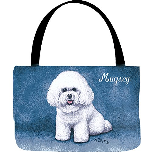 Bichon Frise Tapestry (Bichon Frise Personalized Dog Breed Tapestry Tote - Puppy's Name)
