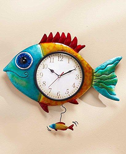Colorful Fish Wall Clock