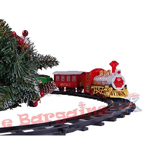 chic deluxe christmas tree train set avec son raliste par e bargains royaume uni - Train Set For Christmas Tree