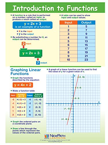 - Introduction to Functions Visual Learning Guides, Set/5-4-Panel, 11