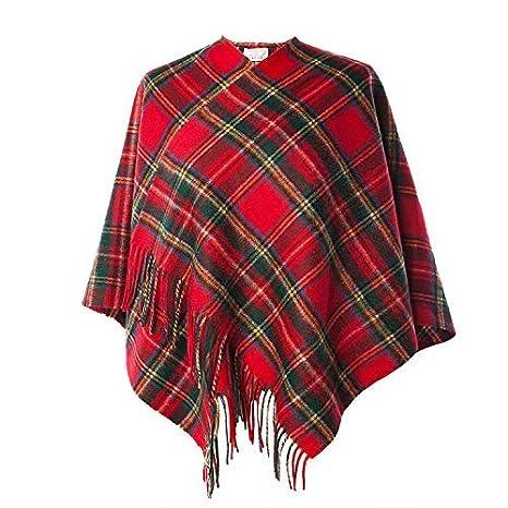 Ladies Pure Edinburgh Lambswool Scottish Mini Cape Available In Various Tartans
