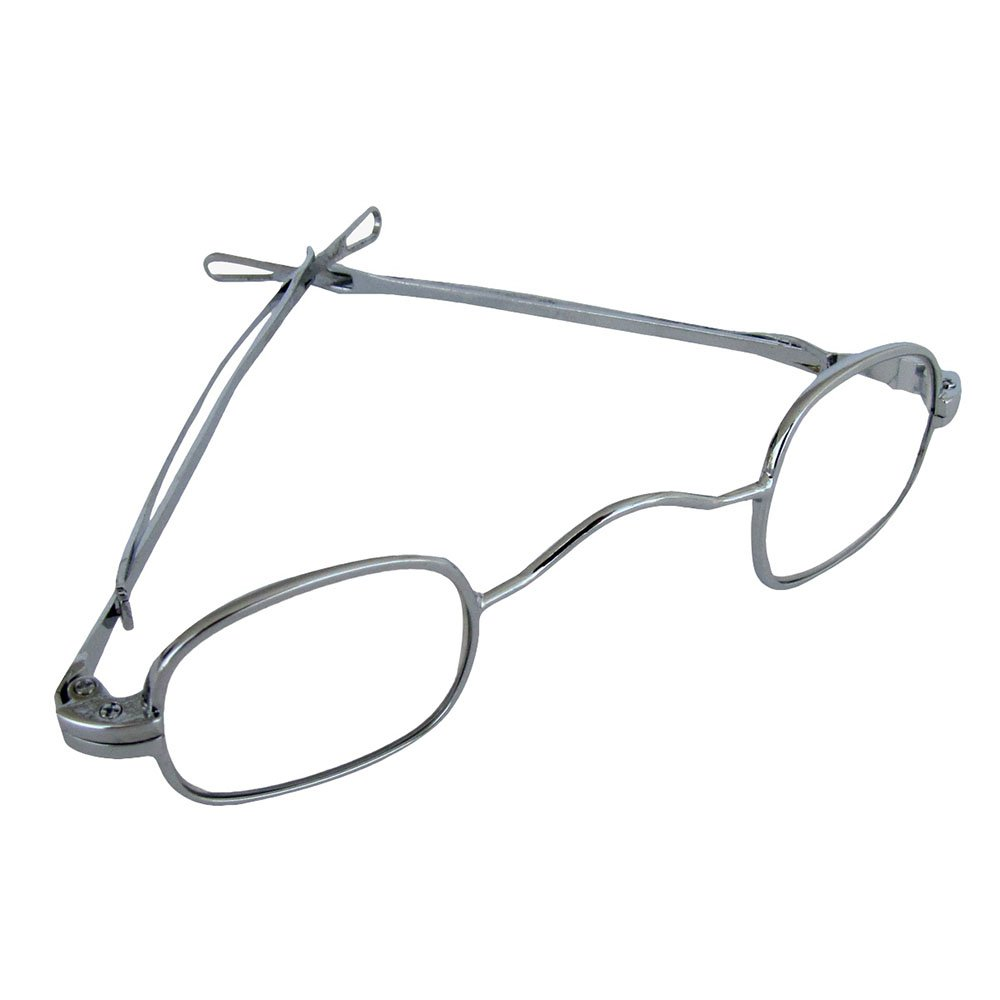 19th Century Style Sterling Silver Square Eye Glasses Spectacles