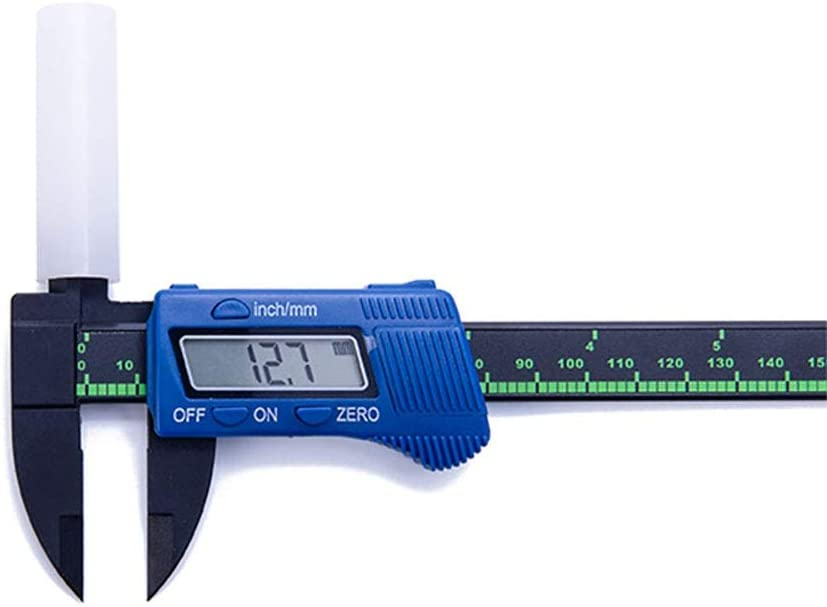 ChenyanAwesom Vernier Caliper 100//150mm Portable High-Strength Plastic Digital Vernier Caliper Plastic Caliper Large Screen Measuring Tool Color : Blue, Size : 150mm