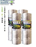 4 PACK Wholesale Lot: ESP Low-E® SSR Reflective Foam Core Insulation Kit: 4 Rolls (Size 24''x25') Includes 25' Foil Tape per roll, Knife & Squeegee. Multipurpose Home Insulation For Your Building Project or Just Every Day Household Needs.