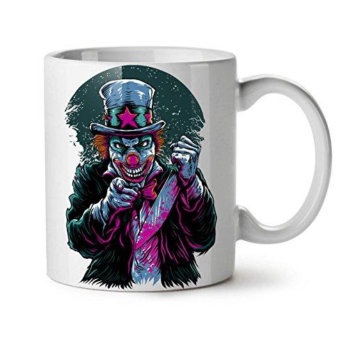 Clow Evil Scary Horror White Tea Coffee Ceramic Mug 11 oz | Wellcoda -