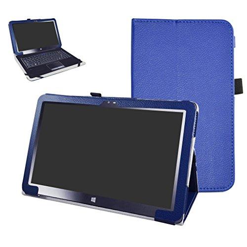 Insignia 11.6 NS-P11W7100 / NS-P11A8100 Case,Mama Mouth PU Leather Folio Stand Cover for 11.6 Insignia 11.6 NS-P11W7100 / NS-P11A8100 11.6 Inch Windows 10 Tablet PC,Dark Blue